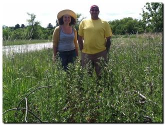Amy Rohan and Michael Averill at the Mequon Nature Preserve