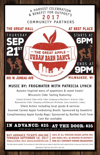 Fall Fundraiser Poster apple barn dance