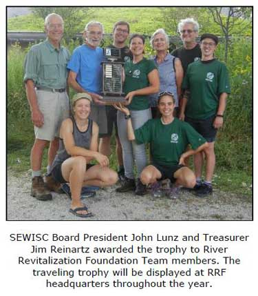 Annual Garlic Mustard Pull A Thon River Revitalization Foundation Team trophy 2