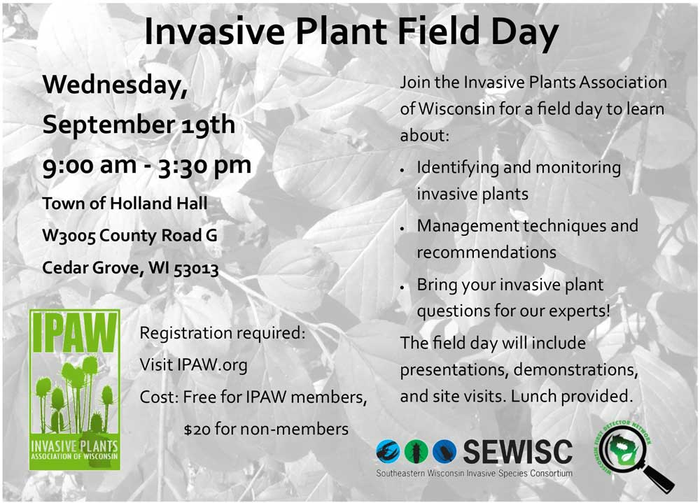 Cedar Grove Invasive Plant Field Day