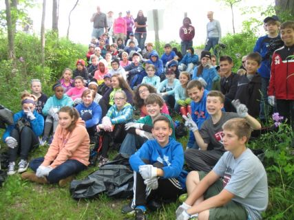 The Caledonia Conservancy Team included students from McKinley Middle School Roosevelts house