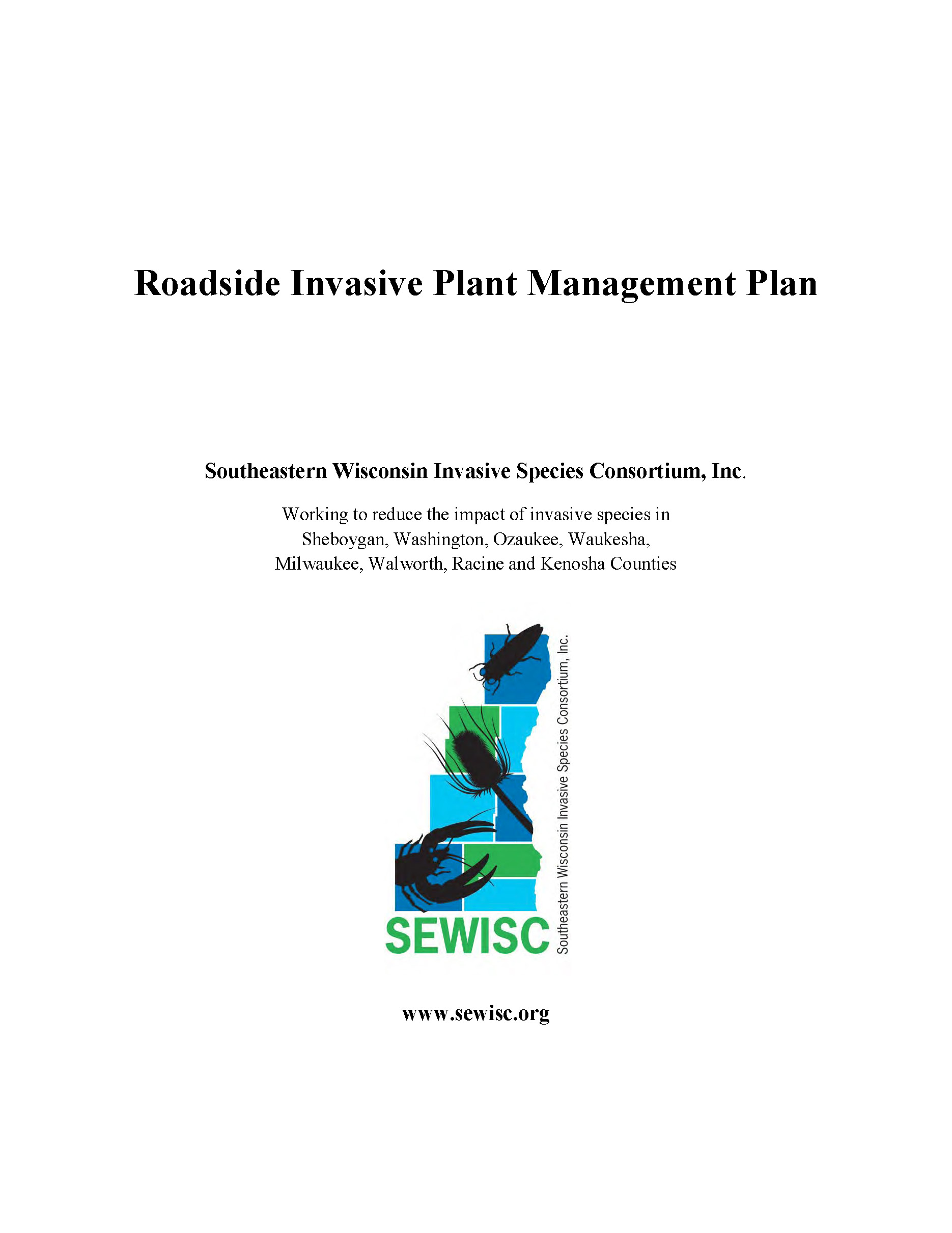 SEWISC ROW Invasive Species Management Plan page 1